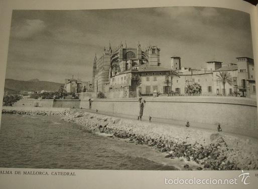 PALMA DE MALLORCA VISTA HUECOGRABADO AÑOS 40 (Arte - Huecograbado)