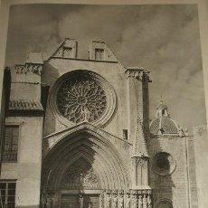 Arte: TARRAGONA LA CATEDRAL HUECOGRABADO AÑOS 40. Lote 58191550