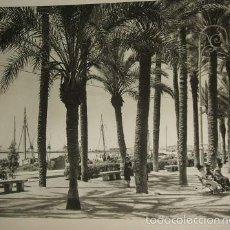 Arte: ALICANTE PASEO MARITIMO HUECOGRABADO AÑOS 40. Lote 58191667