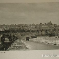 Arte: MADRID VISTA DEL PALACIO REAL HUECOGRABADO AÑOS 40. Lote 58191693