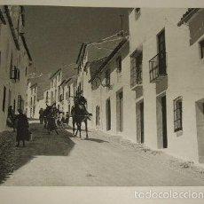 Arte: ANTEQUERA MALAGA UNA CALLE HUECOGRABADO AÑOS 40. Lote 58191736