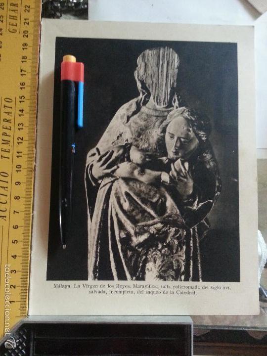 SEMANA SANTA DE MALAGA VIRGEN DE LOS REYES - SAQUEO DE LA CATEDRAL (Arte - Huecograbado)