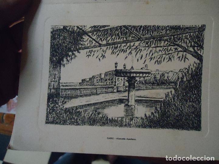 HUECOGRABADO O GRABADO , CADIZ ALAMEDA APODACA . INVITACION NAVIDAD R. PITA 1962 (Arte - Huecograbado)