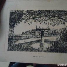 Arte: HUECOGRABADO O GRABADO , CADIZ ALAMEDA APODACA . INVITACION NAVIDAD R. PITA 1962. Lote 61537064