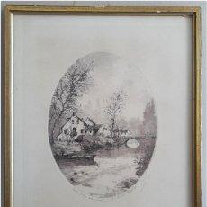 Arte: MUY BONITO GRABADO AL AGUA FUERTE ORIGINAL, FORMATO OVALADO.. Lote 64180911