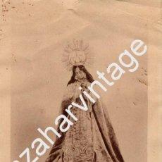 Arte: BADAJOZ, 1934, ESPECTACULAR HUECOGRABADO DE LA VIRGEN DE BOTOA, 190X285MM. Lote 68040485