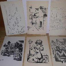 Arte: 19 CARTULINAS CON DIBUJOS DE DIFERENTES ARTISTAS, CAMILO PORTA, MAXIMO, ETC. Lote 72867111