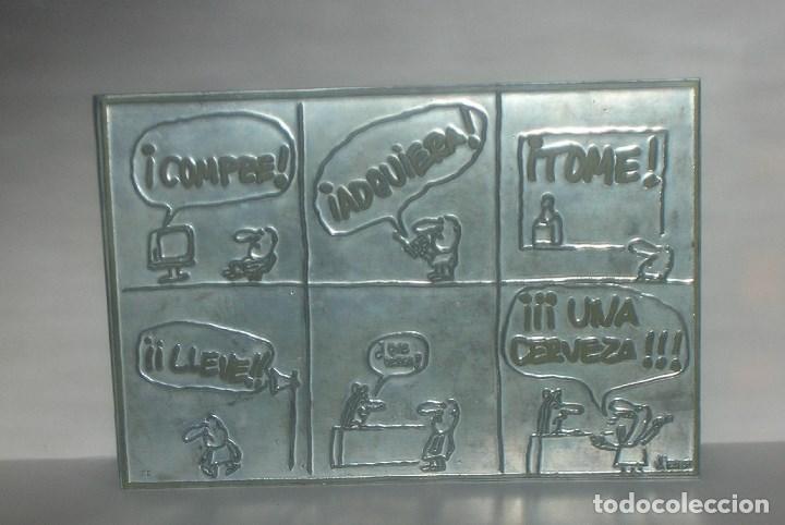 PLANCHA DE ZINC, ORIGINAL Y ÚNICA, CHISTE DE EL PERICH, AÑO 1972. LEER LA DESCRIPCIÓN ,GRACIAS. (Arte - Huecograbado)