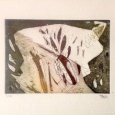 Arte: OBRA GRÁFICA GRABADO A LA ELECTRÓLISIS DE FELIX JUAN BORDES NAFURAHI SANA, 4/100. Lote 86907900