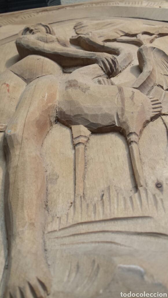 Arte: Puerta antigua de armario tallada a mano Totalmente como se ve en fotos - Foto 2 - 86981127