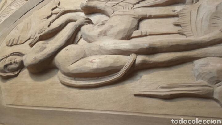 Arte: Puerta antigua de armario tallada a mano Totalmente como se ve en fotos - Foto 4 - 86981127