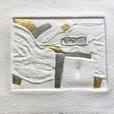 Arte: ALEG ON. CONGO II. HUECOGRABADO AL AGUA. FIRMADO, NUMERADO Y TITULADO POR EL ARTISTA.. Lote 92684435