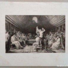 Arte: 1853 GRABADO FRANCES REPRESENTANDO AL ARTISTA.. Lote 94622179