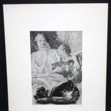 Arte: RAFAEL ARMENGOL (BENIDOMO, VALENCIA, 1940) AGUAFUERTE FIRMADO A MANO. 206/220. Lote 96294471