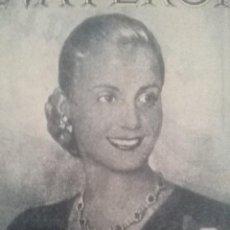 Arte: EVA PERÓN. HUECO GRABADO CONMEMORATIVO 1º ANIVERSARIO DE SU FALLECIMIENTO, 1953. Lote 99545383