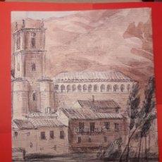Arte: JAUME SERRA I GIBERT: DE RONCESVALLES A SAN MILLÁN - DIBUJOS DE MONUMENTOS, 1865 - REPROD. 2008.. Lote 105676955
