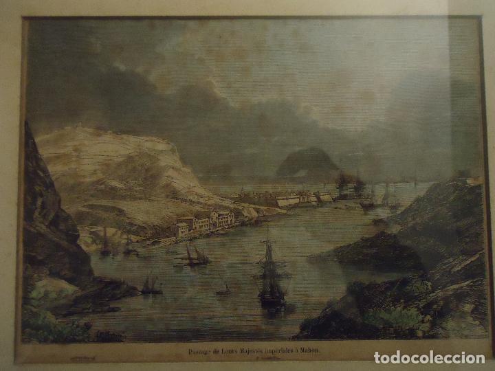 Arte: Paso de sus Majestades Imperiales En el puerto de Mahón Menorca - Foto 2 - 110528507