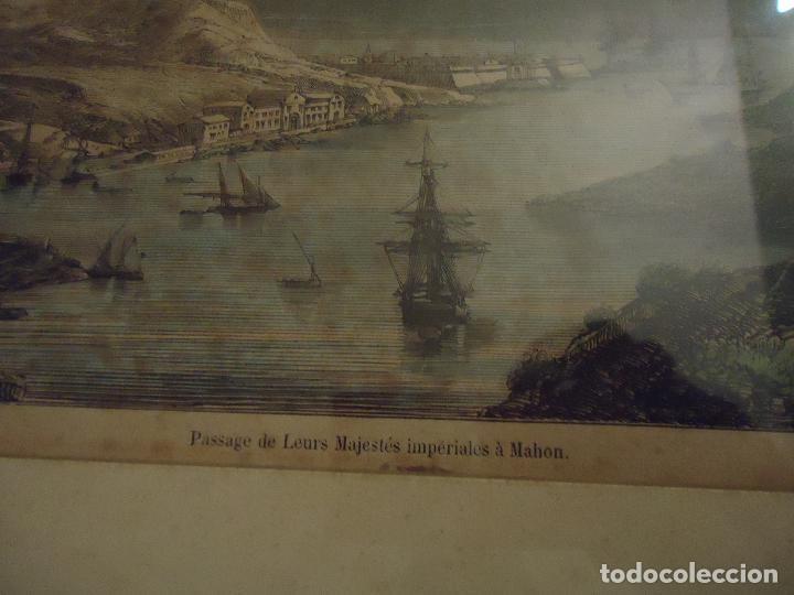 Arte: Paso de sus Majestades Imperiales En el puerto de Mahón Menorca - Foto 3 - 110528507