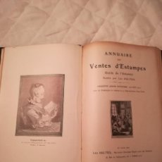 Arte: ANNUAIRE DES VENTES D´ESTAMPES, POR LÉO DELTEIL, NOVIEMBRE 1920-JUNIO 1921. Lote 113113671