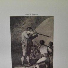 Arte: ENVÍO GRATIS. GRABADO SITIOS DE ZARAGOZA. MIGUEL SALAMERO.. Lote 113365091
