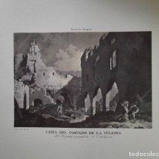 Arte: ENVÍO GRATIS. GRABADO SITIOS DE ZARAGOZA. RUINAS IGLESIA HOSPITAL NTRA. SRA. GRACIA.. Lote 113365139