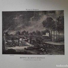 Arte: ENVÍO GRATIS. GRABADO SITIOS DE ZARAGOZA. BATERÍA DE SANTA ENGRACIA.. Lote 113365187