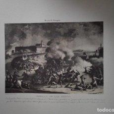 Arte: ENVÍO GRATIS. GRABADO SITIOS DE ZARAGOZA. BATALLA DE LAS ERAS.. Lote 113365303