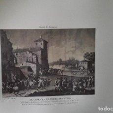 Arte: ENVÍO GRATIS. GRABADO SITIOS DE ZARAGOZA. ALARMA EN LA TORRE DEL PINO.. Lote 113365367