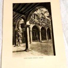 Arte: ANTIGUO HUECOGRABADO - BÉLGICA, MUSEO PLANTIN MORETUS GALERÍA - 20X15,5CM / EXTRAÍDO DE LIBRO.. Lote 125222219