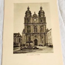 Arte: ANTIGUO HUECOGRABADO - BÉLGICA, SAN HUBERTO LA IGLESIA - 20X15,5CM - EXTRAÍDO DE LIBRO.. Lote 125223191