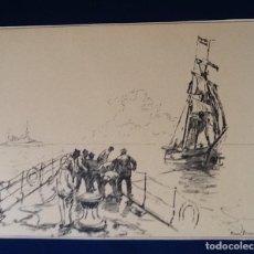 Kunst - LAMINA FRANCESA. PRINCIPIOS SIGLO XX TEMATICA BARCOS. ENVIO INCLUIDO EN EL PRECIO. - 126109467