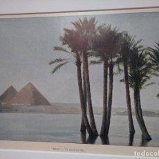 Arte: FOTOGRABADO DEL RIO NILO EN EGIPTO A SU PASO POR LAS PIRAMIDES AUTOR CHARLES GILLOT. Lote 130632862
