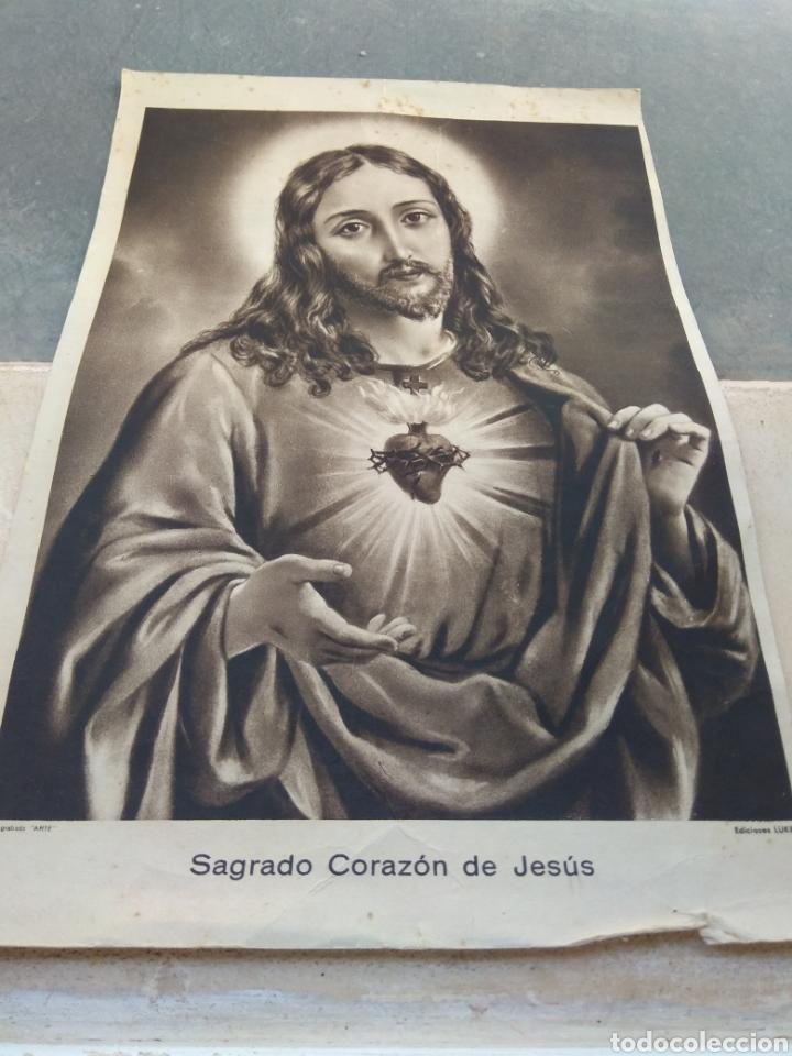 LAMINA SAGRADO CORAZÓN - HUECOGRABADO ARTE - EDICIONES LUKER - (Arte - Huecograbado)