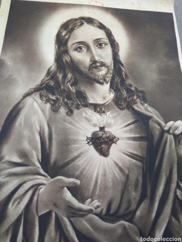 Arte: Lamina Sagrado Corazón - Huecograbado Arte - Ediciones Luker - - Foto 2 - 137849469