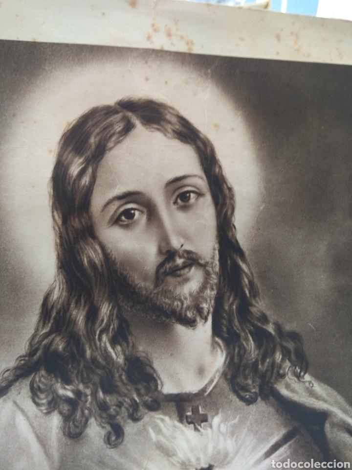 Arte: Lamina Sagrado Corazón - Huecograbado Arte - Ediciones Luker - - Foto 3 - 137849469