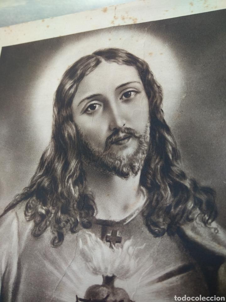 Arte: Lamina Sagrado Corazón - Huecograbado Arte - Ediciones Luker - - Foto 6 - 137849469