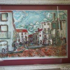 Arte: CUADRO EN RELIEVE DEL PUEBLO DE TORRELLAS (ZARAGOZA) DEL PINTOR J.MURO. Lote 142021648