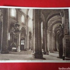 Arte: HUECOGRABADO MUMBRU BARCELONA - INTERIOR DE SAN ISIDRO FOTO WINOCIO 23X19CM FOTOGRAFÍA ANTIGUA. Lote 182060470