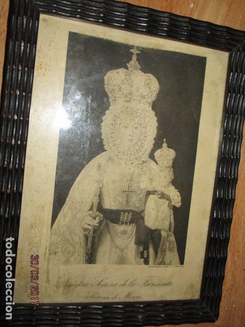 Arte: ANTIGUO HUECO GRABADO MAMBRU BARCELONA VIRGEN FUENSANTA MURCIA MARCO MADERA - Foto 2 - 184062418