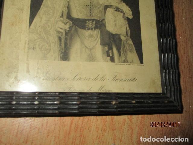 Arte: ANTIGUO HUECO GRABADO MAMBRU BARCELONA VIRGEN FUENSANTA MURCIA MARCO MADERA - Foto 3 - 184062418