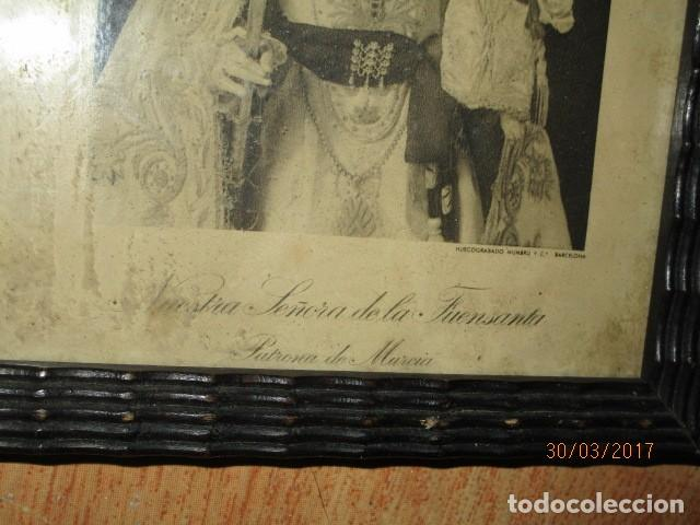 Arte: ANTIGUO HUECO GRABADO MAMBRU BARCELONA VIRGEN FUENSANTA MURCIA MARCO MADERA - Foto 4 - 184062418
