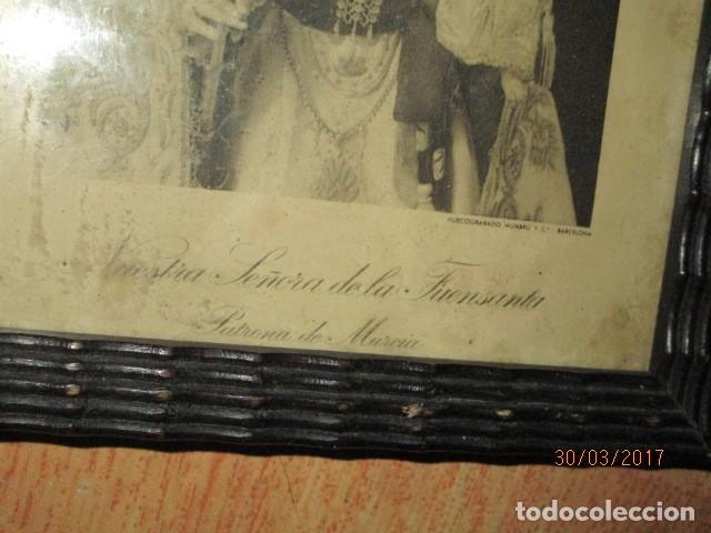 Arte: ANTIGUO HUECO GRABADO MAMBRU BARCELONA VIRGEN FUENSANTA MURCIA MARCO MADERA - Foto 5 - 184062418