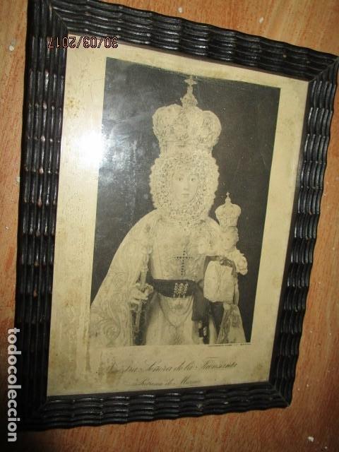 Arte: ANTIGUO HUECO GRABADO MAMBRU BARCELONA VIRGEN FUENSANTA MURCIA MARCO MADERA - Foto 6 - 184062418