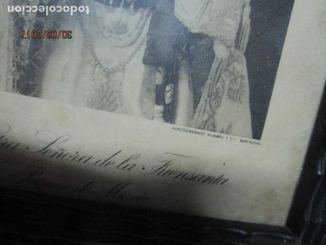 Arte: ANTIGUO HUECO GRABADO MAMBRU BARCELONA VIRGEN FUENSANTA MURCIA MARCO MADERA - Foto 8 - 184062418
