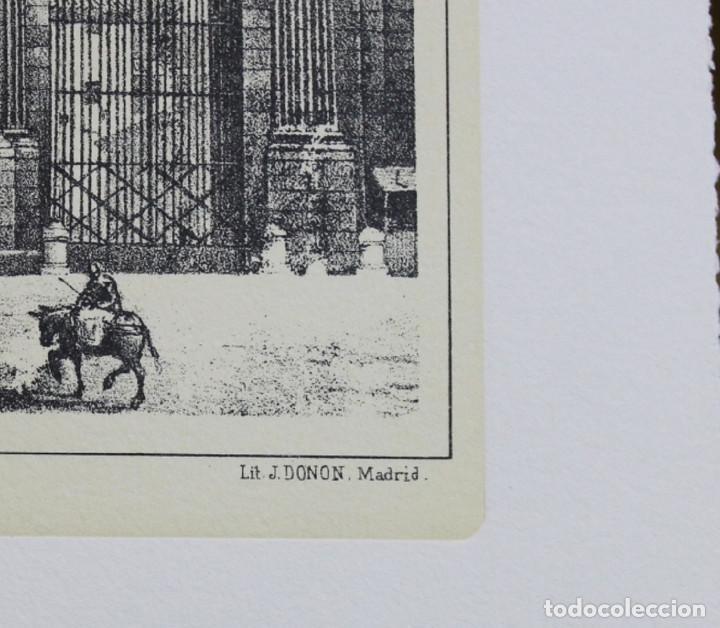 Arte: Lámina de Madrid,Puerta de Toledo,huecograbado,35 x 25 cm. - Foto 3 - 187458540