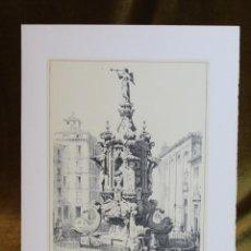 Arte: LÁMINA DE MADRID,FUENTE DE ANTÓN MARTÍN,HUECOGRABADO,35 X 25 CM.. Lote 187458870