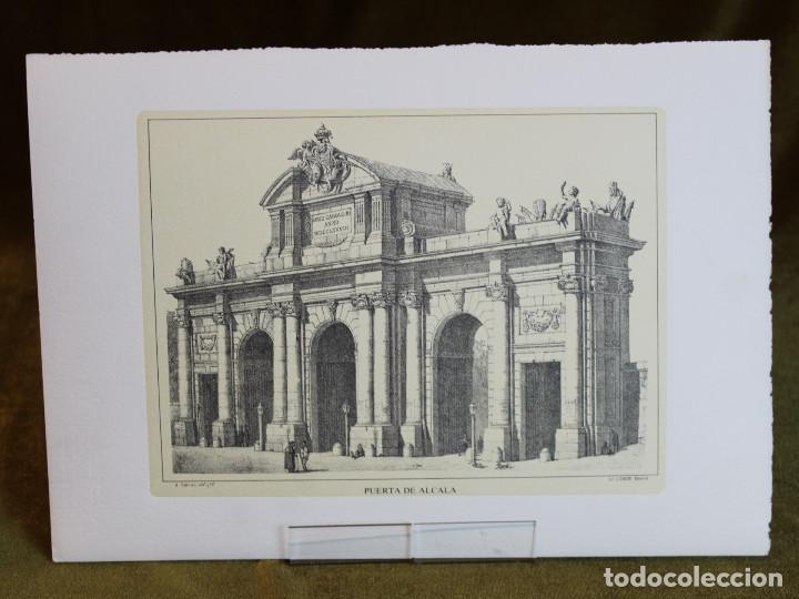 LÁMINA DE MADRID,PUERTA DE ALCALÁ,HUECOGRABADO,35 X 25 CM. (Arte - Huecograbado)