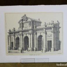 Arte: LÁMINA DE MADRID,PUERTA DE ALCALÁ,HUECOGRABADO,35 X 25 CM.. Lote 187459032