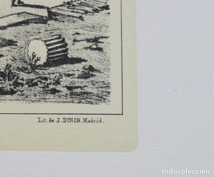 Arte: Lámina de Madrid,Puente de Toledo,huecograbado,35 x 25 cm. - Foto 3 - 187459223