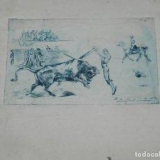 Arte: (M) HUECOGRABADO TAUROMAQUIA - TOROS - AUTOR BECQUER, 31X23,5 CM, SEÑALES DE USO. Lote 193882941